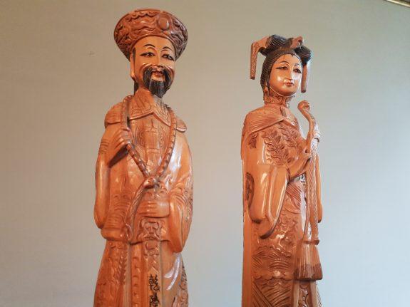 satijnhouten Chinese keizersechtpaar