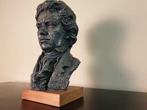 Vintage sculptuur of buste Beethoven uit 1961