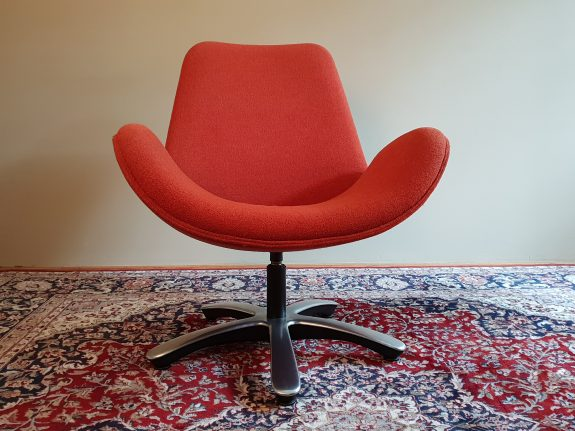 Mid century design stoel incl hocker
