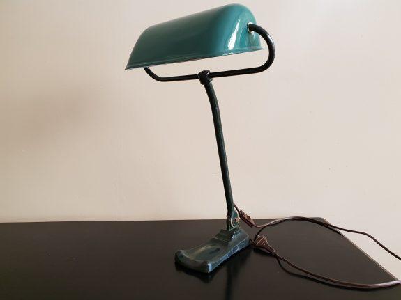 Verstelbare groene Erpe notarislamp