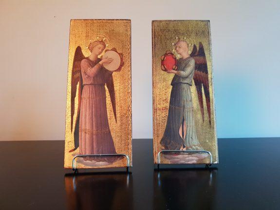 Twee Italiaanse engelen iconen